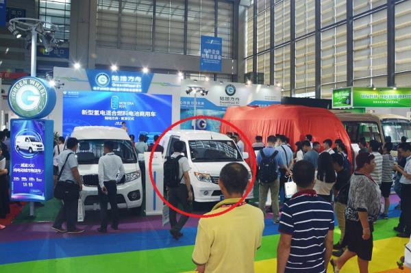 陆地方舟威途X30纯电动物流车低调现身深圳物博会!