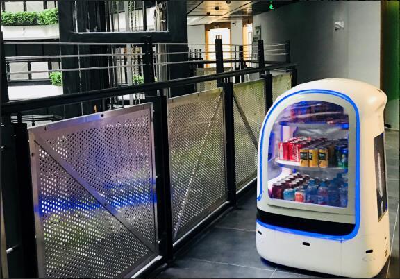 让货找人!云迹科技推出中国第一个巡游售货机器人