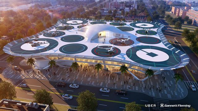 从Uber飞行汽车站设计中,我们看到了狂野的想象力