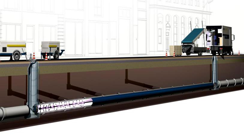 CIPP UV紫外光固化管道非开挖修复内衬法