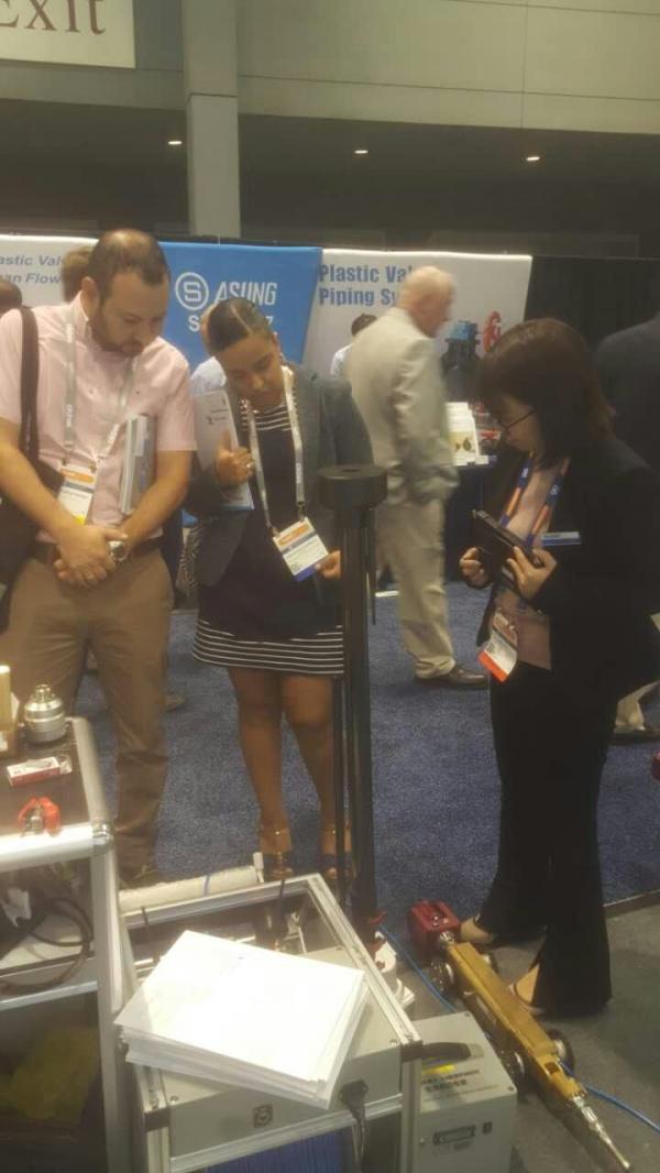 中仪管道机器人走进美国—亮相世界级水工业展览会