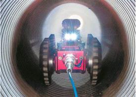"CCTV管道机器人给城区污水管道做""手术"""