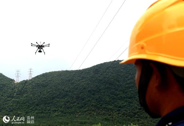 贵州电网输电线路无人机巡视覆盖率突破60%