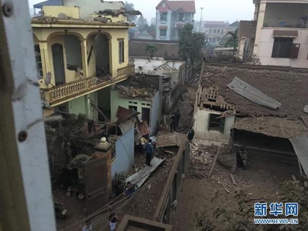 越南北部一废品收购点发生爆炸