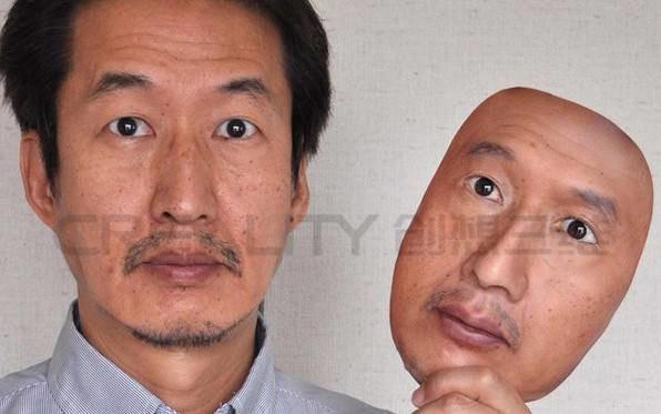 3D打印机复制仿真人皮面具,逼真程度令人惊叹