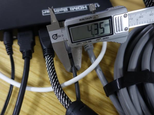 实地商用高清大屏系统测试 开博尔光纤hdmi线二代20米测评