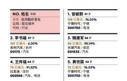 2020中国汽车富豪榜:造车不如卖电池