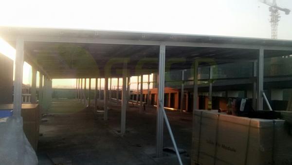 聚高为华南地区最大屋顶光伏发电凉棚提供铝合金支架