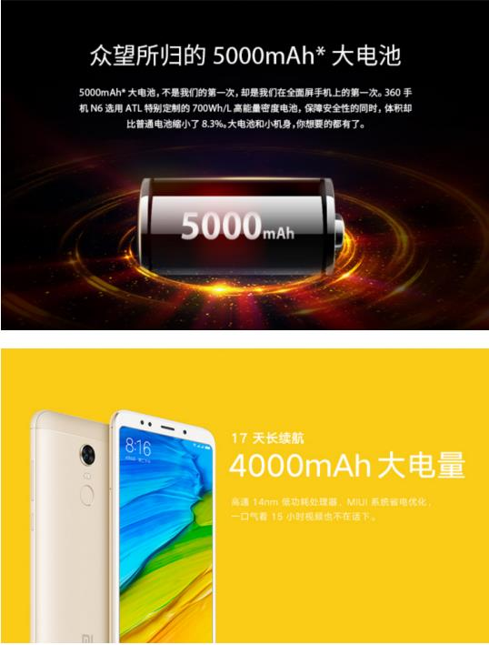 全面屏之争,360手机N6对比红米5 Plus谁占优势?