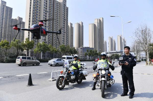 安徽合肥在全省率先引入无人机群助力交通管理