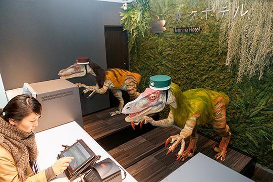 """日本要开更多机器人酒店:前台或是系领结的""""恐龙"""""""