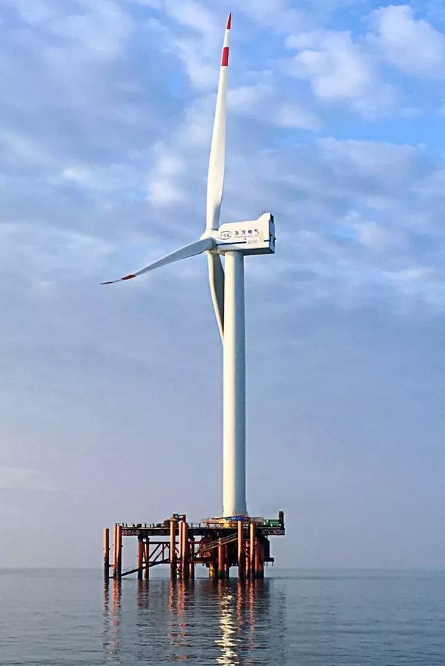 东方风电抗台风型5MW海上风电机组在兴化湾试验风场投运