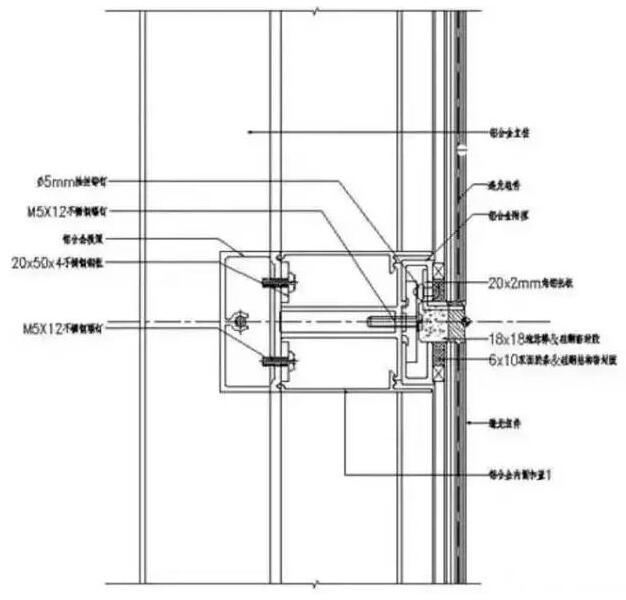 隐框幕墙竖剖面节点示意图 总结 据介绍:光伏方阵与建筑结合的方式不