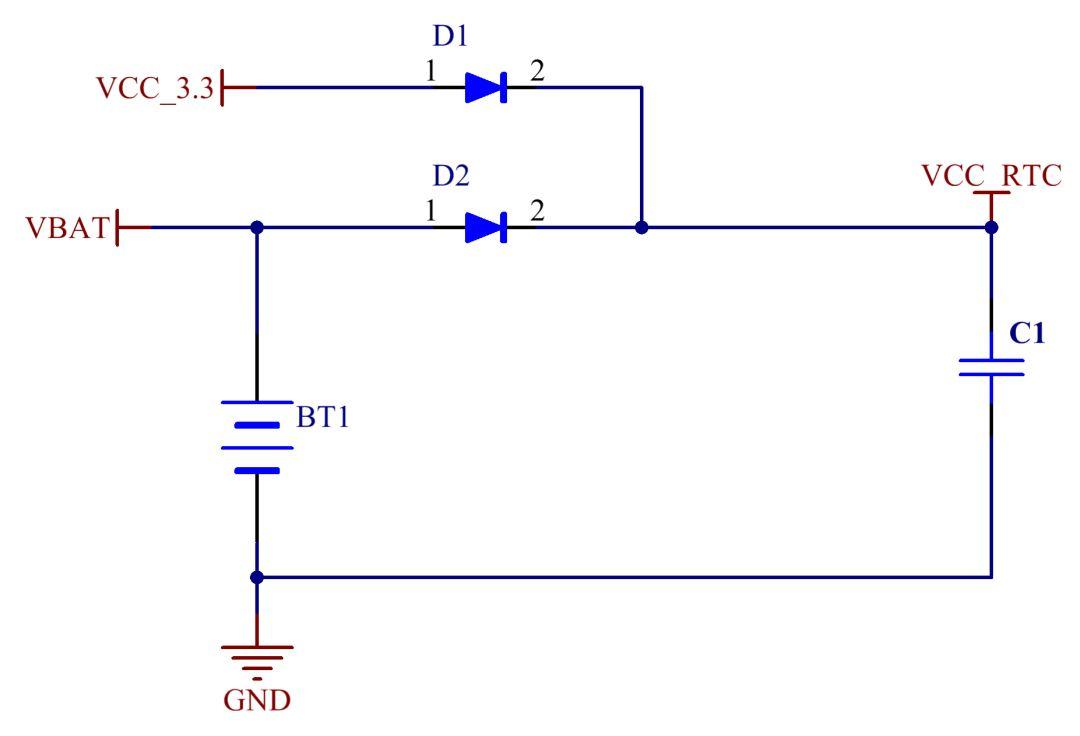 而切换到锂电池供电时,如果滞后的电压低于时钟芯片的工作电压,那么时