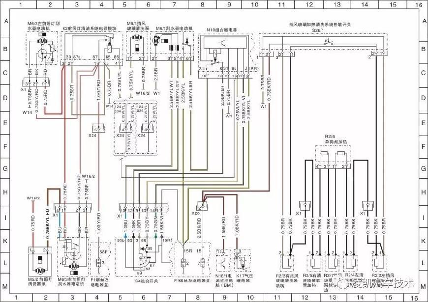 电路识读10-奔驰车系电路图识读