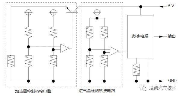 发动机电子控制系统传感器(2)    传感器与ecu连接电路图   (2)传感器