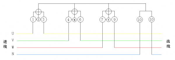 分布式光伏并网时电能表的连接方式
