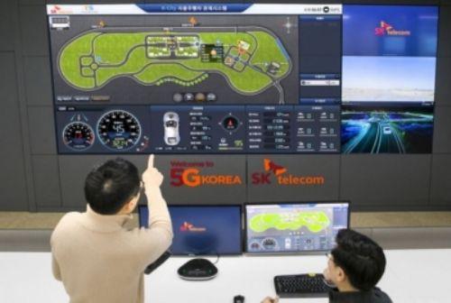 韩国全球首测5G网络下自动驾驶