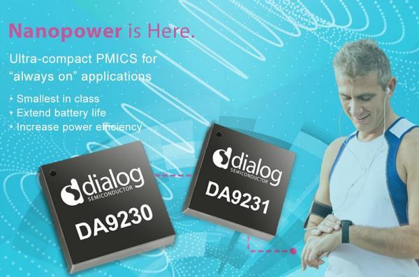 Dialog首发纳安级电源PMIC延长电池续航时间