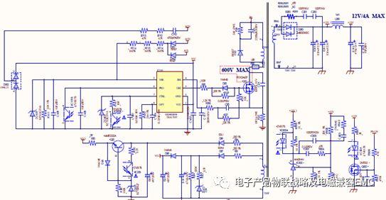 对于无pfc电路设计的双反激的30mhz的emi-辐射案例分析data如下: a.