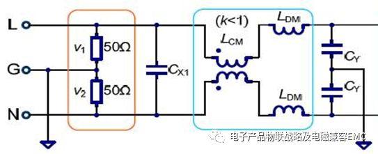 通过测试的滤波器的emi数据与理论的excel的原理计算参数数据是吻合