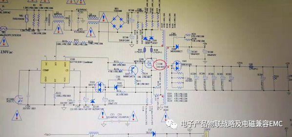 从电路板的原理图上看,其原理示意图的设计对emi都有预设