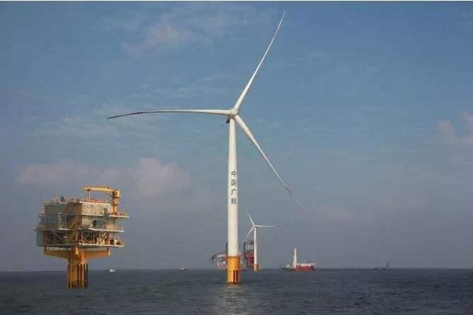 中廣核嵊泗5號海上風電項目正式復工