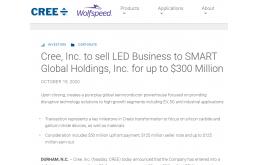 重磅!Cree将LED业务卖了!