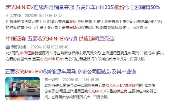 战绩赫然,宏光MINIEV为中国新能源市场摁下加速键