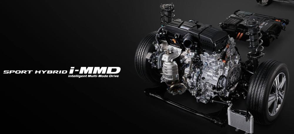 本田i-MMD混动技术结构图丨官方