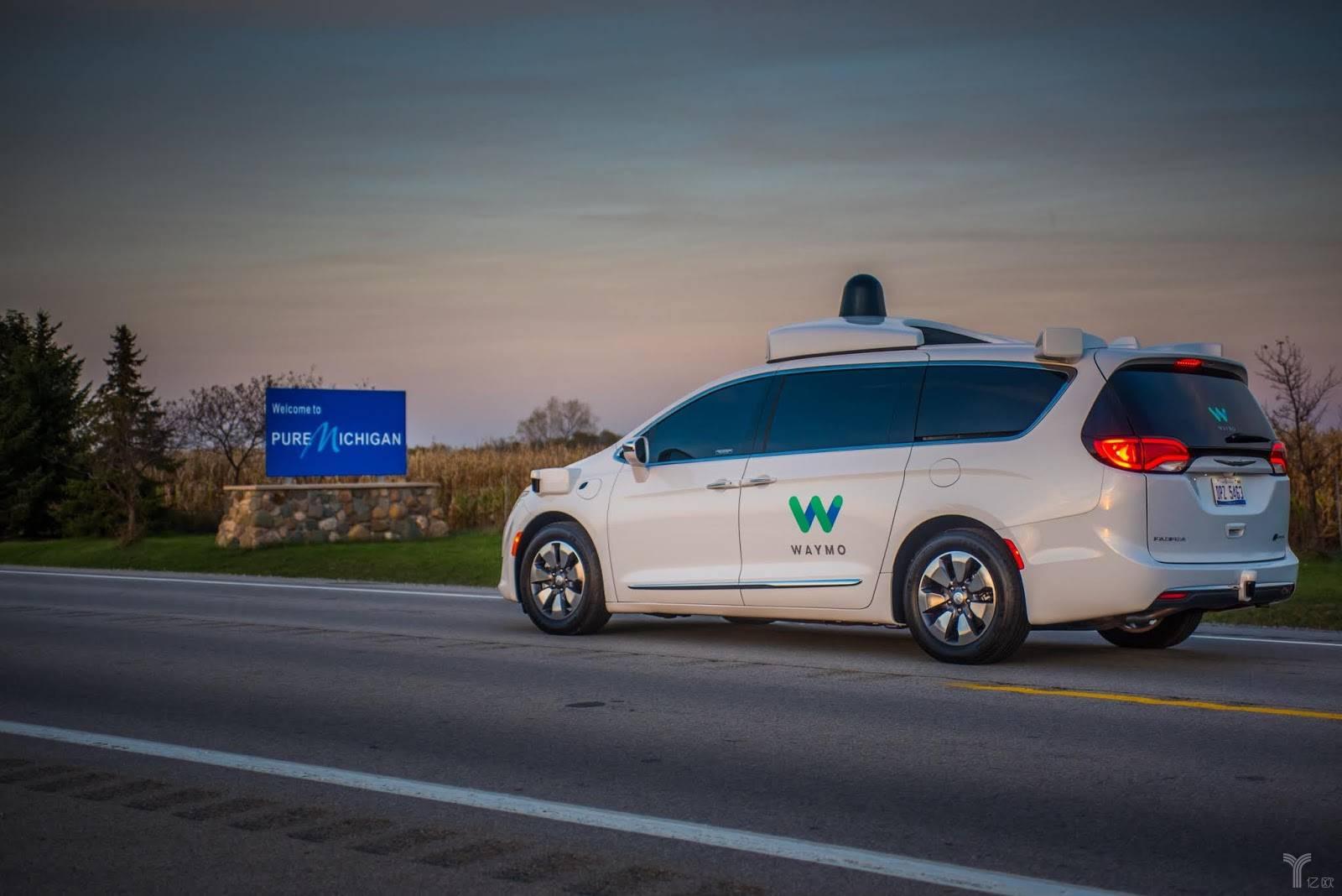 Waymo自动驾驶汽车在开往密歇根的路上