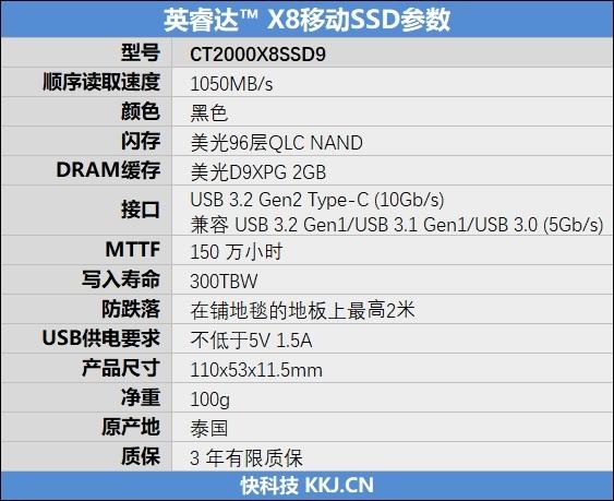 迎接QLC时代的来临!英睿达X8 2TB移动SSD评测
