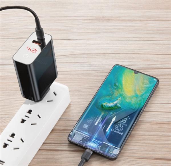 小米有品上架45W充电器:带屏幕 可显示电压电流