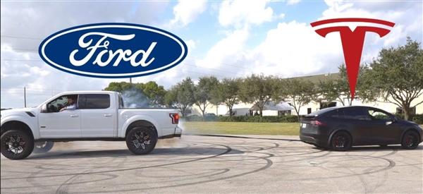 福特猛禽尴尬:跟特斯拉Model X拔河也输了