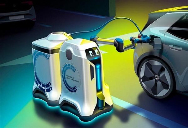 """大众发布""""充电机器人""""概念:可主动寻找需要充电的汽车"""