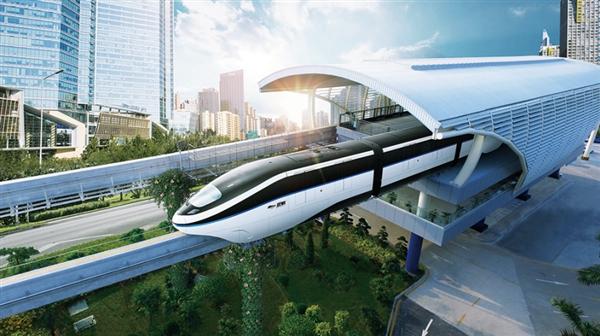"""全球首条跨海云轨开工!比亚迪""""绿色大交通""""为全世界做了范例"""