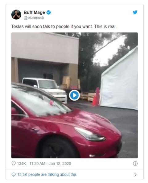 马斯克曝光特斯拉新功能:Model 3很快就能跟行人对话