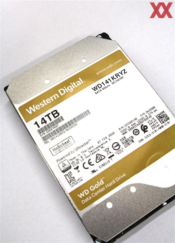 西数Gold 14TB硬盘测试:269MB/s速度 最高功耗28W