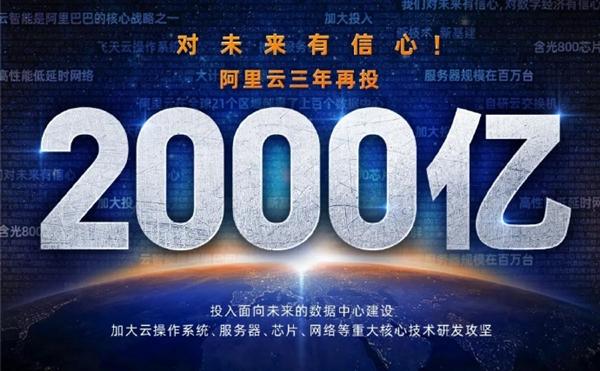 阿里云:未来亚博体彩网站网址|平台下载3年再投2000亿 用于云OS、服务器、芯片研发