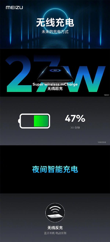 魅族旗舰机史上最大电池!魅族17半个小时能充入56%电量