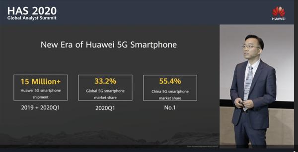 中国每卖两台5G手机就有一台华为!华为5G手机美国零件仅剩1%