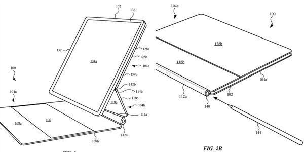 专利曝光iPad Pro新键盘套:转轴处可塞入手写笔