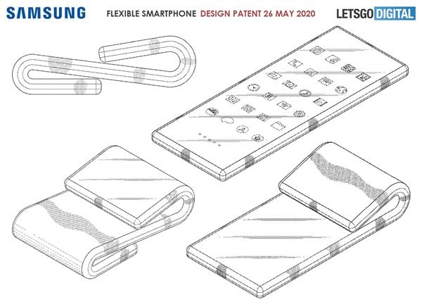 三星全新折叠屏专利曝光:上下双折的新颖设计