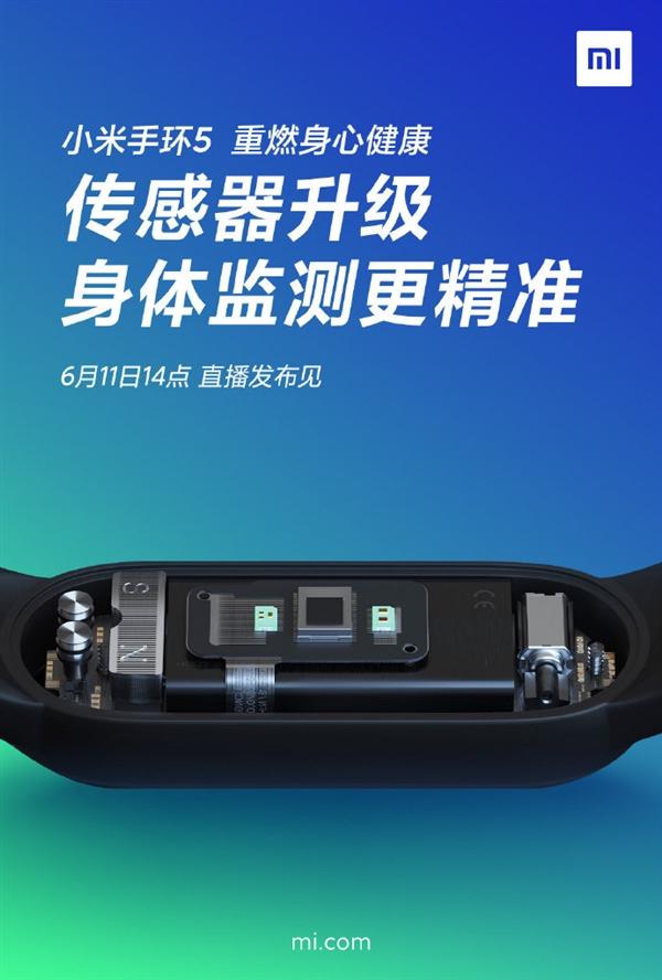 小米手环5升级全新传感器:心率、睡眠、压力、呼吸齐活了