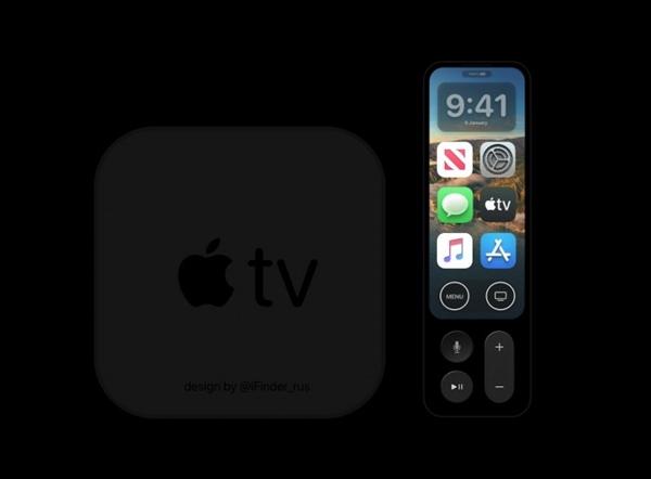 搭载A12X:苹果Apple TV 6概念图流出 遥控器带有显示屏