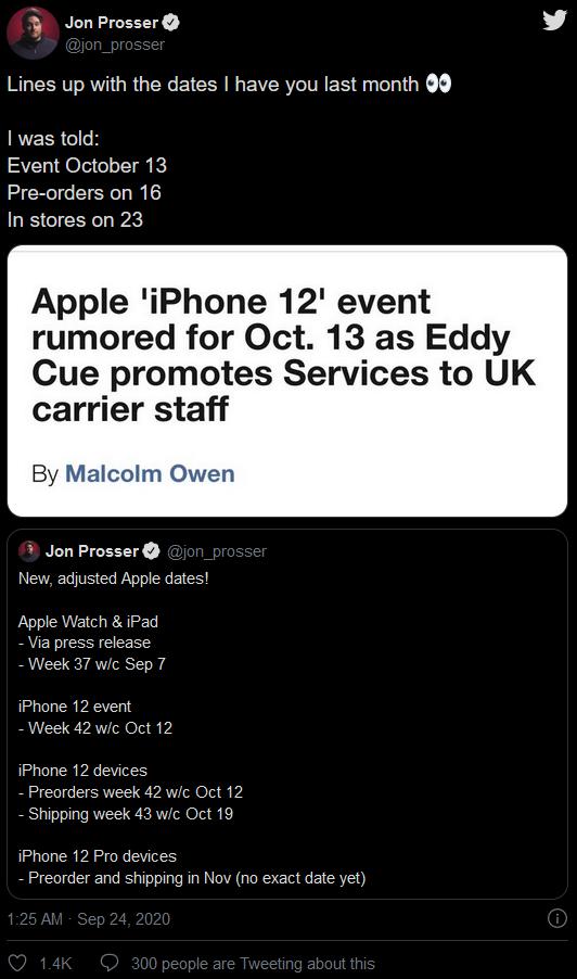 iPhone 12基本确定:苹果要玩大的 10月13日四款齐发!