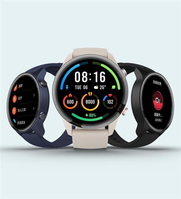 小米手表Color运动版649元首发:支持血氧+117种运动模式
