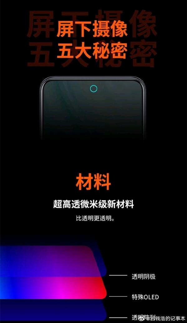 中兴首发第三代屏下摄像技术 吕钱浩:今年下半年甚至明年友商才能用上