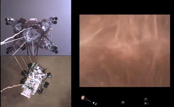 """NASA发布毅力号登陆火星视频:第一视角重现""""恐怖7分钟"""""""