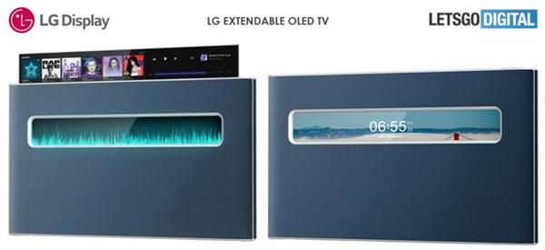 LG全新电视专利获批:介于可卷曲电视和透明电视之间